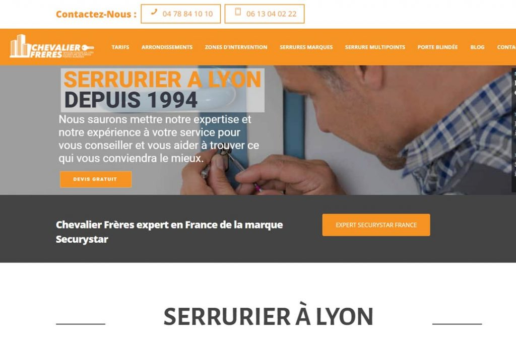 Chevalier Frères- Artisan serrurier à Lyon