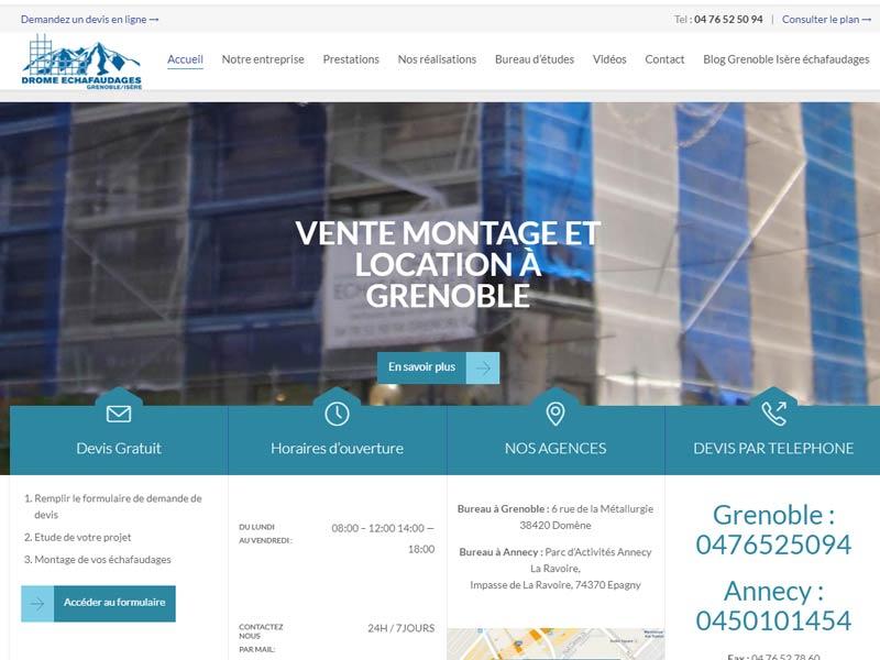 Location d'échafaudages à Grenoble